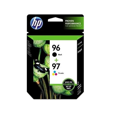 HP 96 Black & 97 Tri-color Original Ink Cartridges, 2 Cartridges (C9353FN) (Ink Cartridges Hp 560)