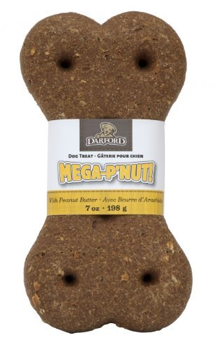 Darford Mega-P 'Nut Bone Dog Treat, 7-Ounce (Pack of 10) by Darford