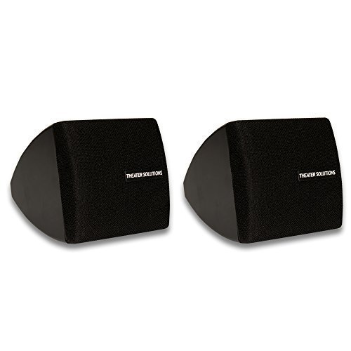 Theater Solutions by Goldwood Surround Mountable Satellite Home Speaker, Set of 2, Black (TS30B) by Theater Solutions