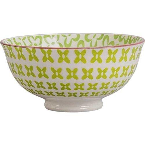 Ooh La La Peony Bowl Green 440401 - Bleu Rim Soup