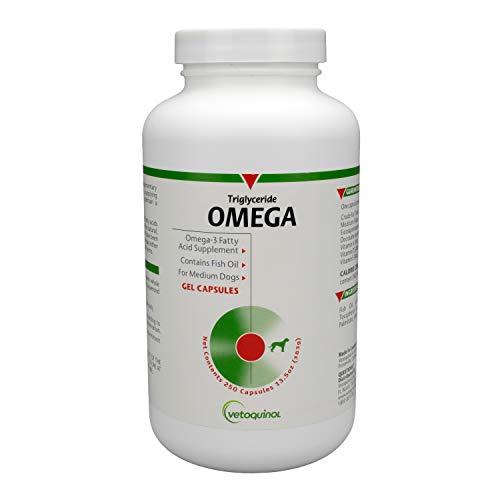 Vetoquinol Triglyceride Omega Dog Supplement Capsules, Medium-Breed: 40-79 lbs, 250ct
