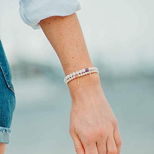 Rayminder UV Awareness Bracelet Stack in Turquoise