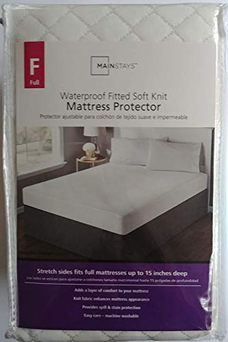 Mainstays Circular Knit Mattress Cover, White - FULL Size
