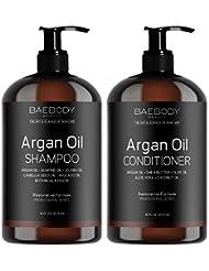 Moroccan Argan Oil Shampoo & Conditioner Set 16 Oz -...