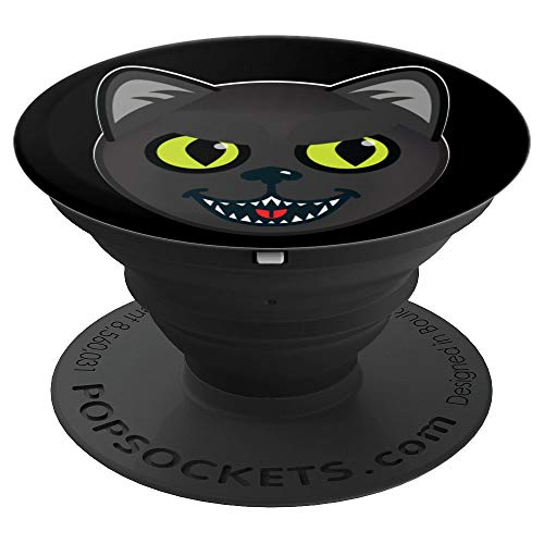 Kids Cute But Evil Killer Hissing Halloween Cat - PopSockets Grip and Stand for Phones and -