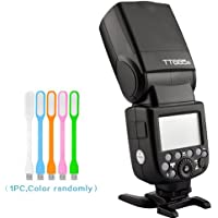 Godox Thinklite TT685S TTL Camera Flash speedlite High Speed 1/8000s GN60 for Sony DSLR Cameras + HuiHuang USB LED Free gift