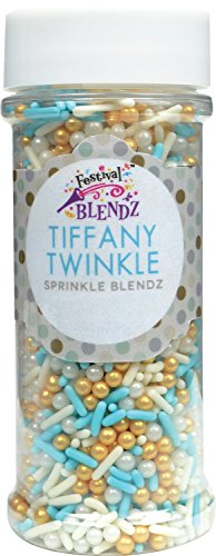 Festival Tiffany Twinkle Sprinkle Blendz, Assorted Colors, 4.8 oz. (Robins Egg Blue Pearls)