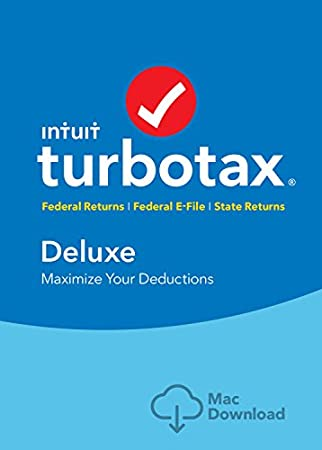 TurboTax Deluxe 2017 (Fed + Efile + State) Mac Download [Amazon Exclusive]