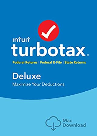 TurboTax Deluxe Tax Software 2017  Fed + Efile + State MAC Download [Amazon Exclusive]