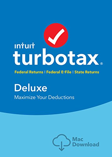 Turbotax Deluxe Tax Software 2017 Fed   Efile   State Mac Download  Amazon Exclusive