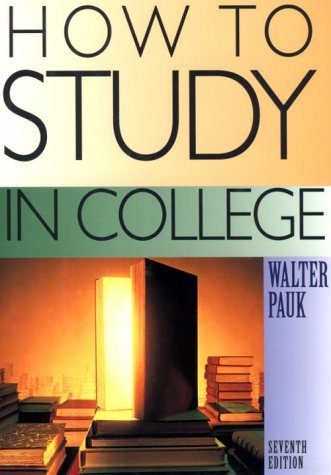 How To Study In College Seventh Edition