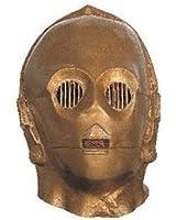 Rubie's Costume Men's Star Wars Deluxe Adult Vinyl C-3Po Mask