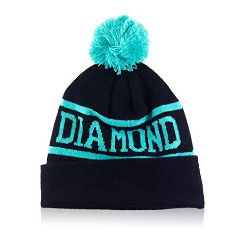 [MuLuo Wool Winter Men Women Cap Diamond Pattern Gorro Beanies Hats Fruit Green] (Fruit Hat Lady)