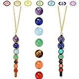 Sumanee 7 Chakra Beads Womens Yoga Reiki Healing Balancing Spiritual Chain Necklace (1)