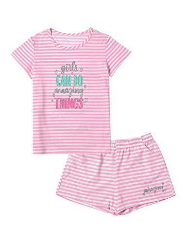Summer Pajamas for Girls - Pink Stripe &