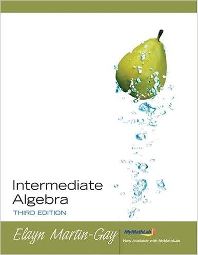 Intermediate algebra martin gay 3rd edition