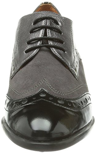 de Antique Humo Old Zapatos Crosta derby Baltimore Negro Hispanitas Acer Mujer Caribu cordones zCUSx