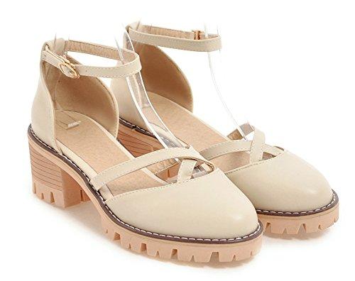 Chaussures Bout Femme Rond Aisun Voyage Belle Beige De Chunky Escarpins qdwA55XIx