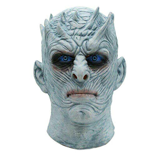 Thrones Night King Mask Halloween Realistic Scary Cosplay Costume Latex Party Mask Adult Zombie Props ()