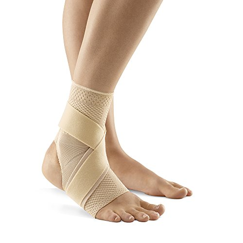 Bauerfeind – MalleoTrain S Open Heel – Ankle Support – Heel Cut Out for Maximum Ankle Stability – Left Foot – Size 1 – Color Nature