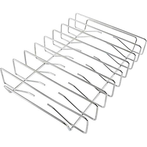 Replace parts Stainless Steel Grills BBQ Rib Rack (BAC354),Suitable for Traeger, Pit boss, Camp Chef, Weber, Char-Broil and Other ovens