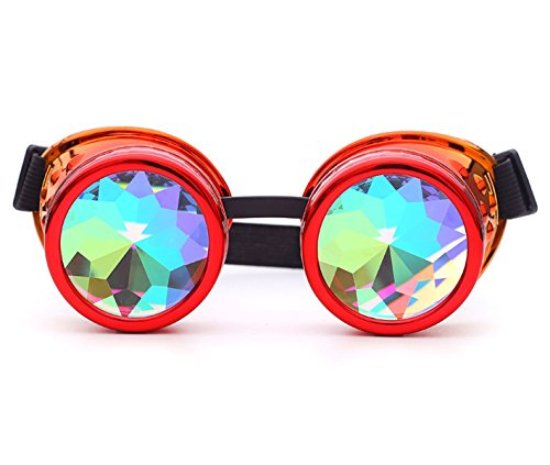 Radioactive Goggles Steampunk Bling Bling Rainbow Crystal Lenses Halloween Party]()
