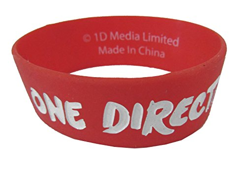 - One Direction 1D Embossed Logo Red Silicone Wristband