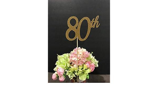 80th Birthday Decorations Centerpiece Sticks Glitter 80 Table Age Anniversary Stick 3ct Christmas