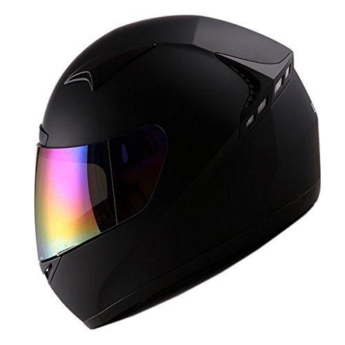 1STORM MOTORCYCLE BIKE FULL FACE HELMET BOOSTER MATT - Helmet Black Girl