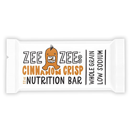 Zee Zees Cinnamon Crisp Soft Baked Bars, Nut-Free, Whole Grain, Naturally Flavored and Colored, 2.2 oz Bars, 24 pack