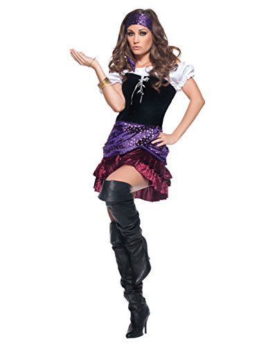 Summitfashions Womens Gypsy Costume Sexy Fortune Teller Costume Peasant Gypsy Sizes: (Fortune Teller Costumes Ideas)