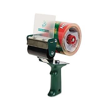 Extra Embalaje Dispensador de cinta, 3 pulgadas Core, verde