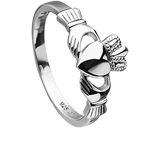 Sterling Silver Love, Loyalty, Friendship ANU3017 Claddagh Ring (6.5)