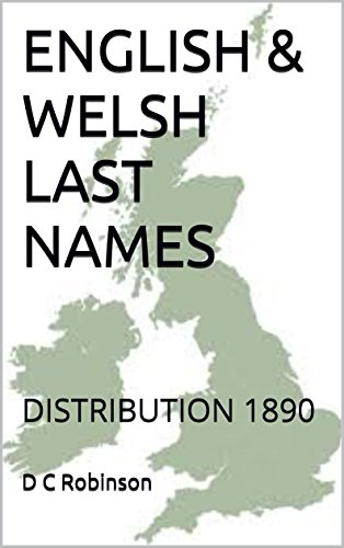 ENGLISH & WELSH LAST NAMES: DISTRIBUTION 1890
