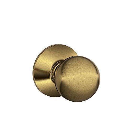 (Schlage F10ORB609 Orbit Passage Knob, Antique Brass)
