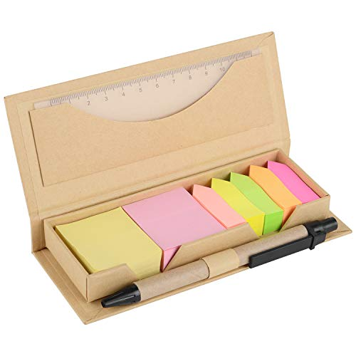 OGI Sticky Notes Set and Organizer, Colored Page Markers Index Tabs with A Ruler and Pen