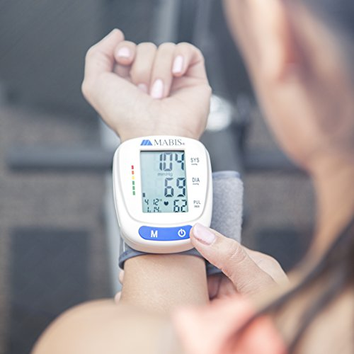 Blood Monitor Cuff Portable Blood Gauge Pulse, Heartbeat, High & Pressure