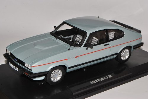 Norev Ford Capri II 2.8i Coupe Blau Grau 1978-1986 1/18 Modell Auto