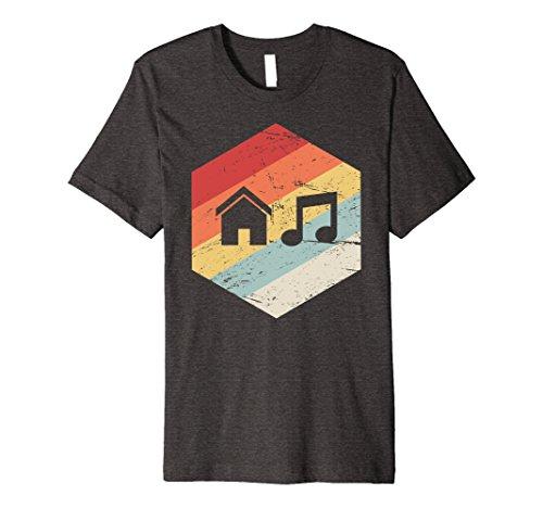House Retro Music (Mens PREMIUM | Vintage Retro House Music T-Shirt XL Dark Heather)