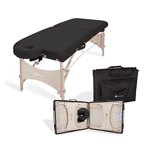EARTHLITE Harmony DX Portable Massage Table Package – Eco-Friendly Design, Deluxe Adjustable Headrest, Hard Maple, Aircraft Quality, up to 600 lbs