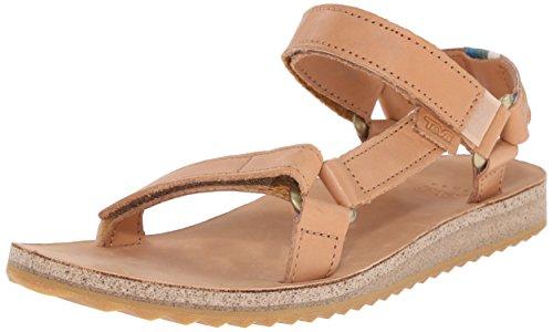 Teva W Original Universal Crafted Leather, Sandalias para Mujer marrón