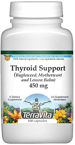 Thyroid Support - Bugleweed, Motherwort and Lemon Balm - 450 mg (100 Capsules, ZIN: 511178) - 3 Pack