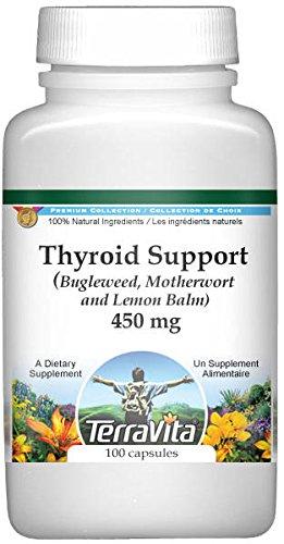 Thyroid Support - Bugleweed, Motherwort and Lemon Balm - 450 mg (100 capsules, ZIN: 511178)