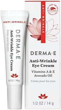 DERMA E Anti-Wrinkle Vitamin A Eye Cream, 0.5 Ounce