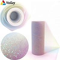 Rainbow 10 Yards Tulle Roll Spool Fabric Ribbon DIY Table Runner Table Tutu Kids Skirt Wedding Party Birthday Gift Decoration,7