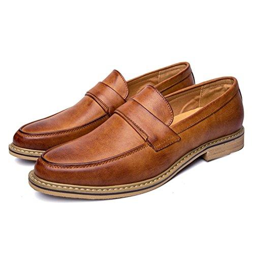 Hommes Derby Business Mocassins Confortable Respirent Basse Loisir Mode Chaussures Soulier Brun Vds6NGub7
