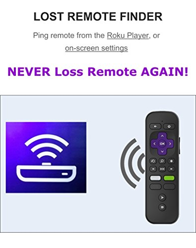 Replacement Enhanced Voice Remote with Headphone Jack Voice Control for Roku 3/ Roku 4/Roku Premiere/Ultra, Compatible with 2015 Newer Model Roku Stick [No TV Power Button] by IKU (Image #4)