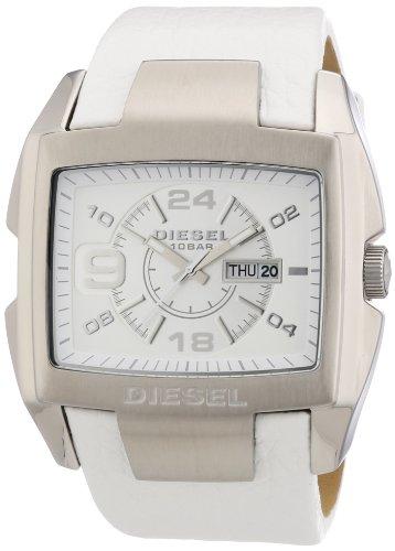 Montre diesel homme bracelet cuir blanc