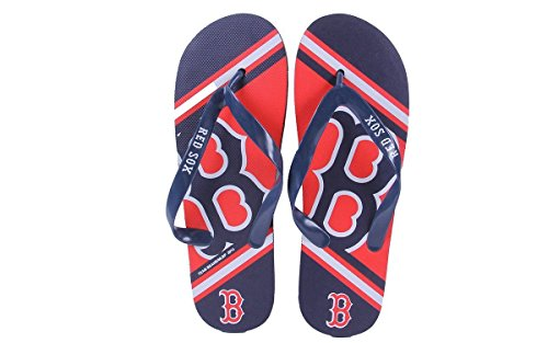 Logo Big Feet Red and Flop Flip Happy Boston Womens Mens Sox 80qcdOxC