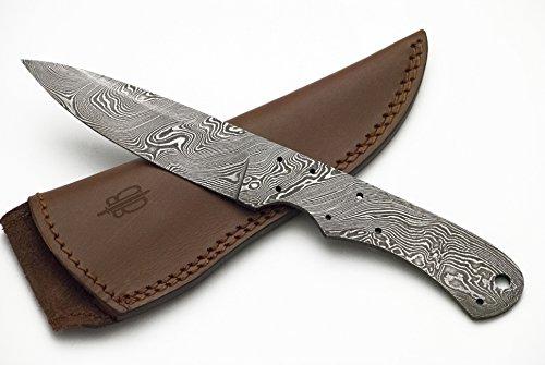 BucknBear Custom Handmade Damascus Blank Blade (Knife Making Supplies)